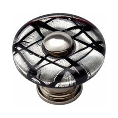 Glass 1-1/2 Inch Diameter Polished Chrome Cabinet Knob <small>(#3208-CH)</small>