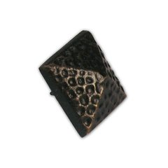 "Small Textured Pyramid Clavo 3/4"" Dia - Antique Brass <small>(#HCL1502)</small>"