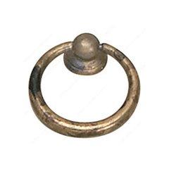 Povera 1-9/16 Inch Diameter Oxidized Brass Cabinet Ring Pull