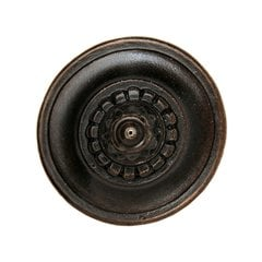 King's Road 1-1/4 Inch Diameter Dark Brass Cabinet Knob