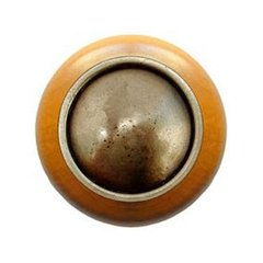 Classic 1-1/2 Inch Diameter Antique Brass Cabinet Knob