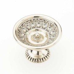 Chalice 1-9/16 Inch Diameter White Brass Cabinet Knob