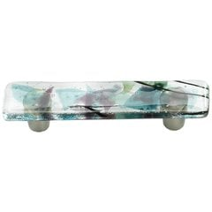 Ice 3 Inch Center to Center Turquoise/Confetti Cabinet Pull
