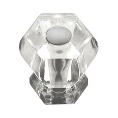 Crystal Palace 1-3/16 Inch Diameter Crystal Acrylic/Bright Nickel Cabinet Knob