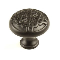 Highlander 1-3/8 Inch Diameter Weathered Bronze Cabinet Knob