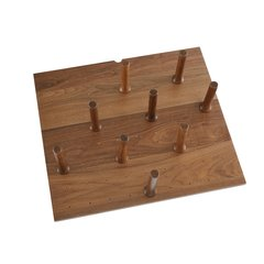 Small Walnut Drawer Peg System (9 Pegs)