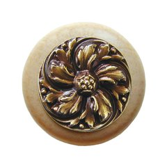 English Garden 1-1/2 Inch Diameter Antique Brass Cabinet Knob
