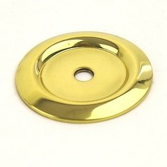 Saturn 1-1/4 Inch Diameter Polished Brass Back-plate
