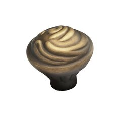 Arcadia Forged Solid Brass 1-3/8 Inch Diameter Antique Light Brass Cabinet Knob