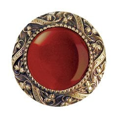 Jewel 1-5/16 Inch Diameter Antique Brass Cabinet Knob