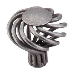 Normandy 1-1/2 Inch Diameter Pewter Cabinet Knob <small>(#M616)</small>