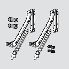 "Hl Arm Assembly-Cab Height 17-11/16 inch - 22-13/16"" <small>(#20L3900)</small>"