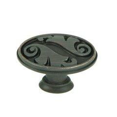 Meadow Brook 1-1/2 Inch Diameter Oil Rubbed Bronze Cabinet Knob <small>(#CP81097-OB)</small>