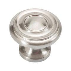 Williamsburg 1-1/4 Inch Diameter Satin Nickel Cabinet Knob <small>(#P3500-SN)</small>