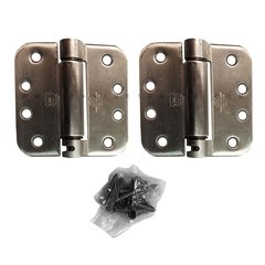 "LB4392-400 5/8"" Radius Corner Single Act Spring Hinge-Steel <small>(#LB4392C-400-630)</small>"