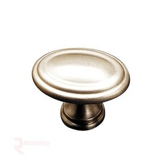Contemporary Classics 1-3/8 Inch Diameter Satin Nickel Cabinet Knob