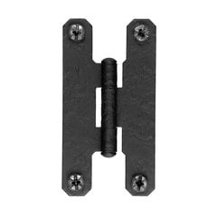 "Rough Iron Flush ""H"" Hinge Black Iron"