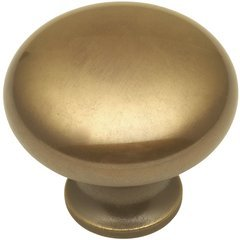 Solid Brass Knob 1-1/4 inch Diameter Sherwood Antique Brass