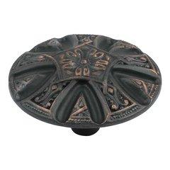 Maltese 1-5/8 Inch Diameter Venetian Bronze Cabinet Knob
