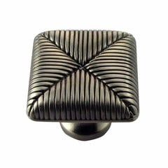 Textures 1 Inch Diameter Satin Antique Nickel Cabinet Knob
