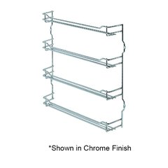 "Spice Rack 9-5/8"" Wide Champage Finish"