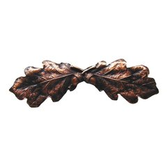 Leaves 3 Inch Center to Center Antique Copper Cabinet Pull <small>(#NHP-644-AC)</small>