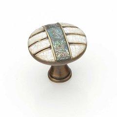Fair Isle 1-3/8 Inch Diameter Aged Dover Cabinet Knob