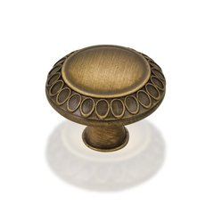 Symphony 1-3/8 Inch Diameter Antique Brushed Satin Brass Cabinet Knob