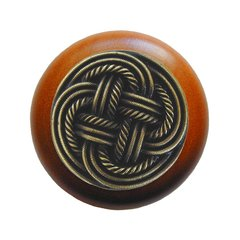 Classic 1-1/2 Inch Diameter Antique Brass Cabinet Knob <small>(#NHW-739C-AB)</small>