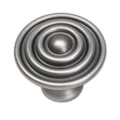 Kama 1-1/2 Inch Diameter Antique Pewter Cabinet Knob