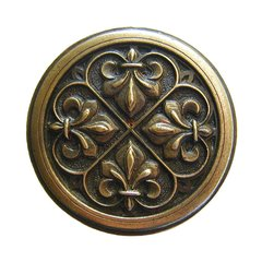 Olde Worlde 1-3/8 Inch Diameter Antique Brass Cabinet Knob