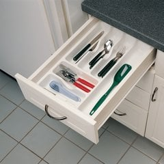 "Cutlery Tray 14.25"" W X 21.25"" D - Textured White"