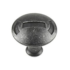 Medieval 1-3/16 Inch Diameter Vibra Pewter Cabinet Pull