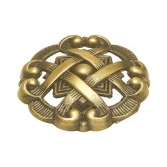 Cavalier 1-1/2 Inch Diameter Antique Brass Cabinet Knob <small>(#P126-AB)</small>