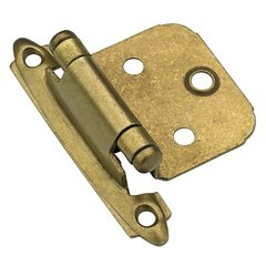 Variable Overlay Hinge-Burnished Brass-Sold Per Pair