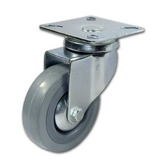 Rubber Caster with Swivel - Grey