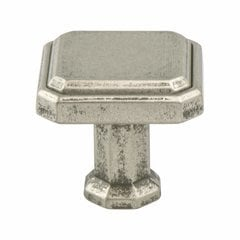 Harmony 1-3/16 Inch Length Weathered Nickel Cabinet Knob <small>(#9460-10WN-P)</small>