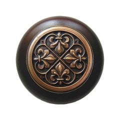 Olde World 1-1/2 Inch Diameter Antique Copper Cabinet Knob <small>(#NHW-760W-AC)</small>