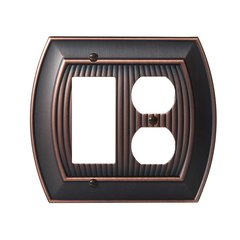 Allison One Rocker, 1 Receptacle Wall Plate Oil Rubbed Bronz