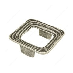 Striated 1-1/4 Inch Center to Center Faux Iron Cabinet Pull