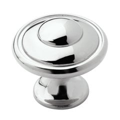 Allison Value Hardware 1-3/16 Inch Diameter Polished Chrome Cabinet Knob <small>(#BP5300226)</small>