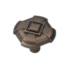 Chelsea 1-1/8 Inch Diameter Dark Antique Copper Cabinet Knob