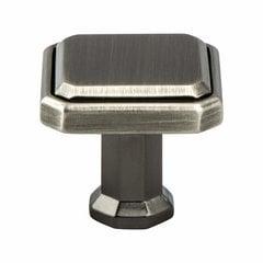 Harmony 1-3/16 Inch Length Vintage Nickel Cabinet Knob <small>(#9580-1VTN-P)</small>
