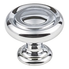 "Bremen 1 Cabinet Knob 1-1/4"" Dia Polished Chrome <small>(#117PC)</small>"