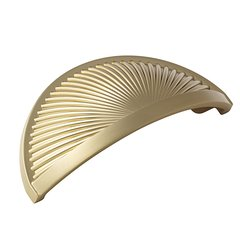 Seagrass 3 Inch Center to Center Golden Champagne Cabinet Cup Pull