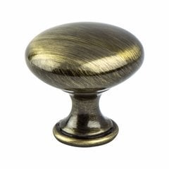 Euro Moderno 1-3/16 Inch Diameter Brushed Antique Brass Cabinet Knob