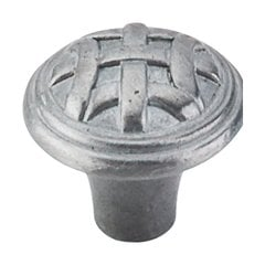 Tuscany 1 Inch Diameter Pewter Light Cabinet Knob