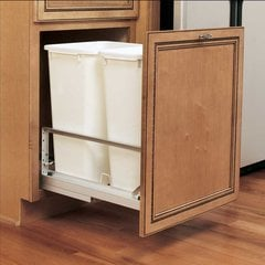 Double Trash Pullout 50 Quart-White