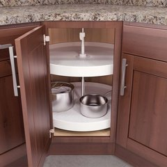 "V Susan 18"" Full Round Lazy Susan 2 Tray <small>(#FT-1821WH)</small>"