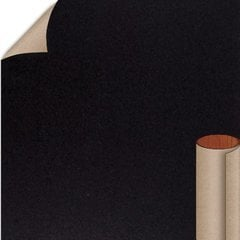 Black Textured Finish 5 ft. x 12 ft. Countertop Grade Laminate Sheet